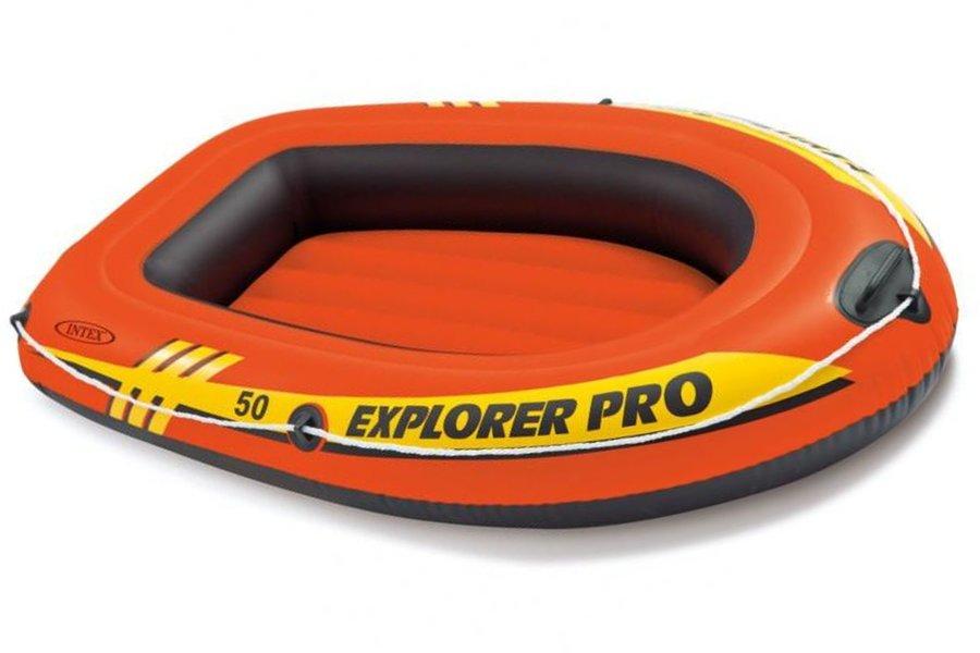 Oranžový nafukovací člun s nafukovacím dnem pro 1 osobu Explorer Pro 50, INTEX