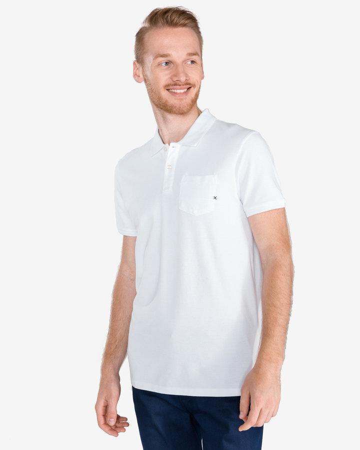 Bílá pánská polokošile s krátkým rukávem Scotch & Soda - velikost S