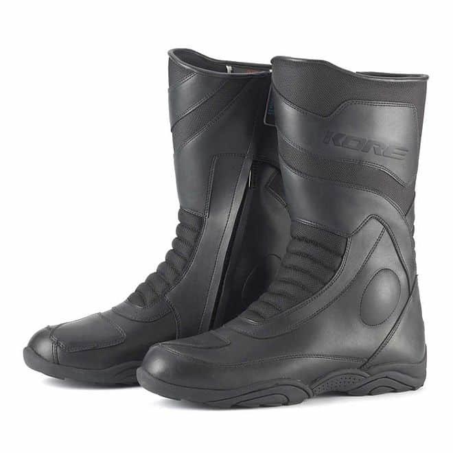 Černé vysoké motorkářské boty Touring Mid, Kore