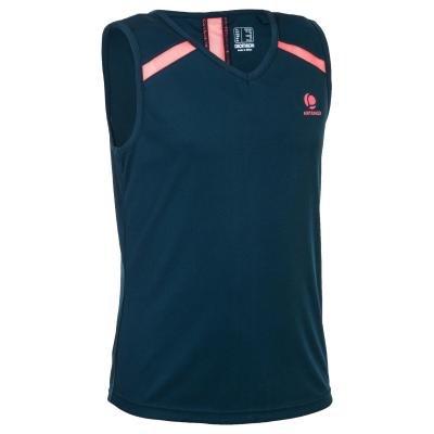 Modré dívčí tenisové tričko Artengo - velikost 143