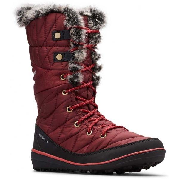 Červené dámské zimní boty Columbia