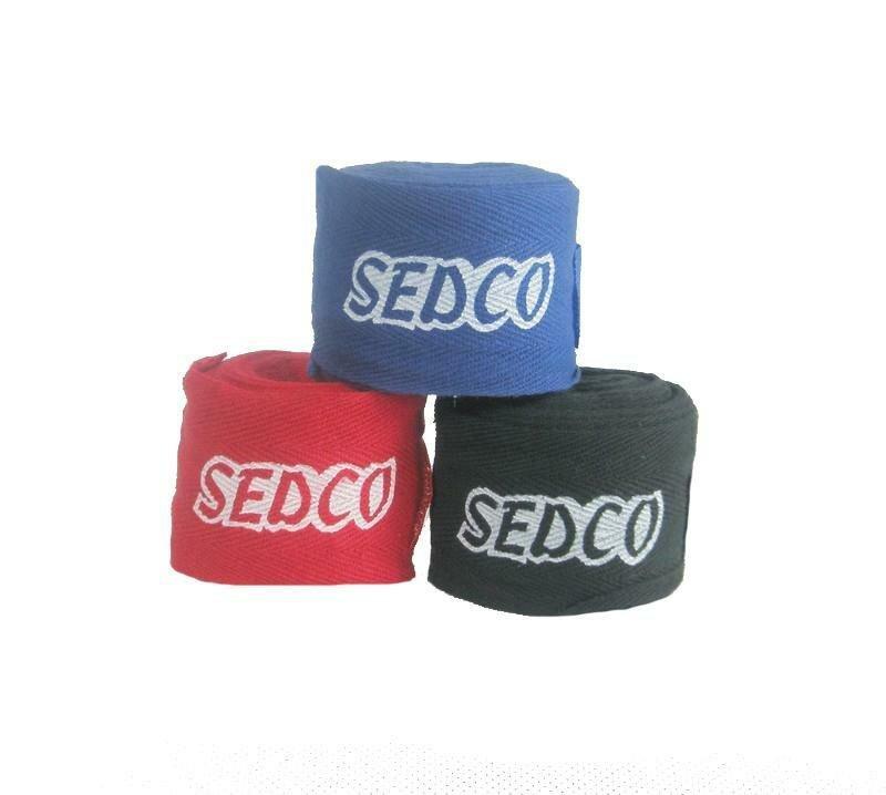 Červená boxerská bandáž Sedco - délka 2,7 m