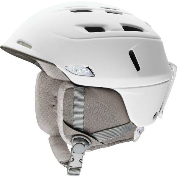 Bílá dámská lyžařská helma Smith - velikost 55-59 cm