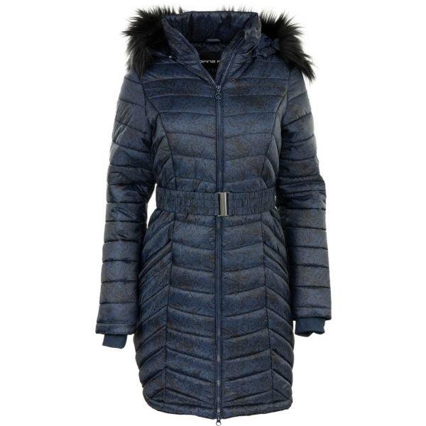 Modrý prošívaný dámský kabát Alpine Pro