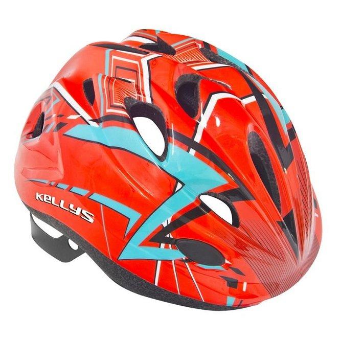 Červeno-modrá dětská cyklistická helma BUGGIE, Kellys - velikost 48-52 cm
