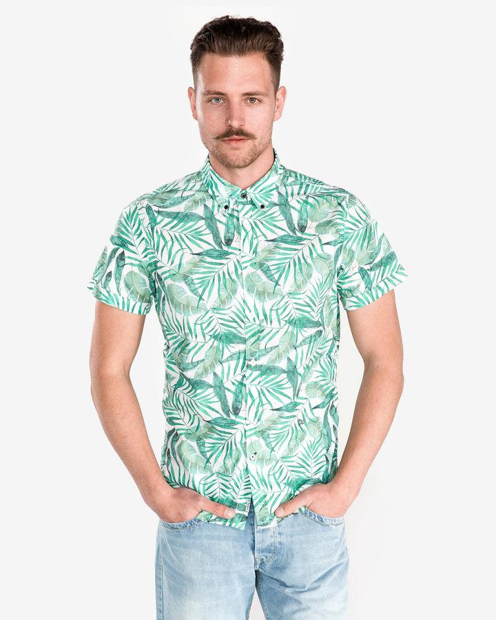 Zelená pánská košile s krátkým rukávem Pepe Jeans