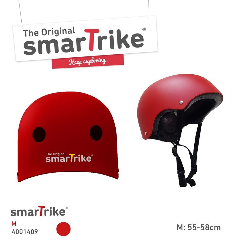 Cyklistická helma - SMART TRIKE - Dětská přilba, M - červená