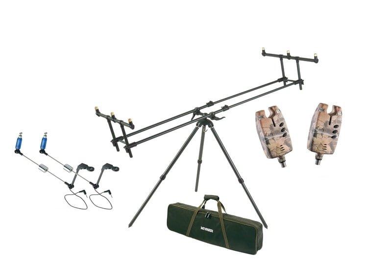 Stojan na pruty - Mivardi Stojan Tripod Premium + ZDARMA 2x Sounder EASY CAMO a 2x Swingarm EASY