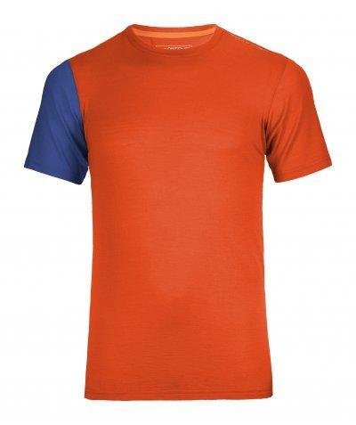 Oranžové pánské termo tričko s krátkým rukávem Ortovox - velikost S