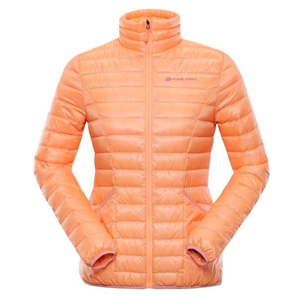 Oranžová peřová dámská bunda Alpine Pro