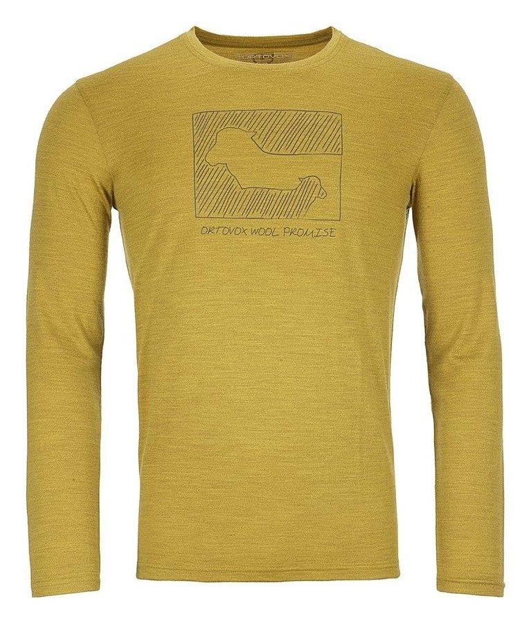 Žluté pánské termo tričko s dlouhým rukávem Ortovox - velikost L