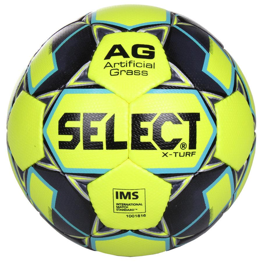 Fotbalový míč - Select FB X-Turf žlutá-šedá č. 4