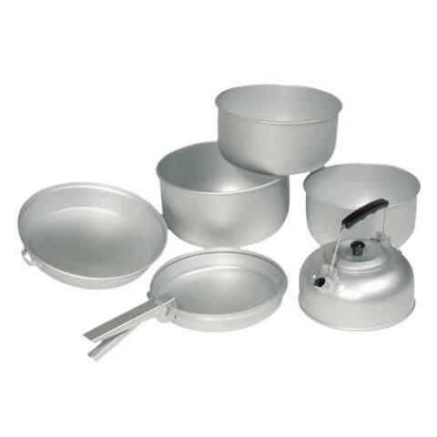 Kempingové nádobí - Nádobí ALU na vaření 3 dílná sada s konvicí
