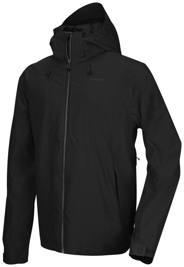 Černá pánská turistická bunda Husky - velikost L