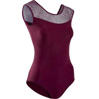 Fialový dámský baletní trikot Domyos