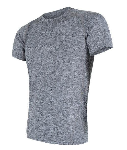 Šedé pánské tričko s krátkým rukávem Sensor - velikost M