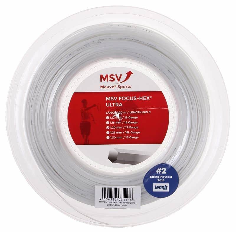 Tenisový výplet - Focus HEX Ultra tenisový výplet 200 m průměr: 1,30;barva: bílá