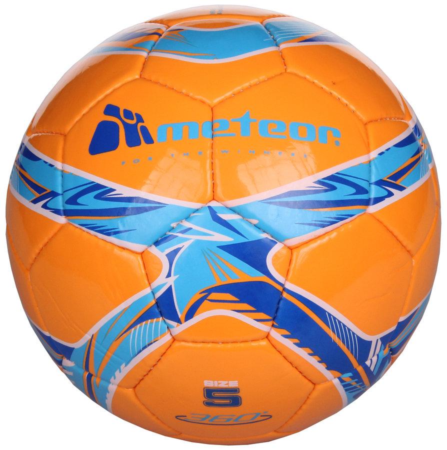 Oranžový fotbalový míč 360 Shiny, Meteor - velikost 5