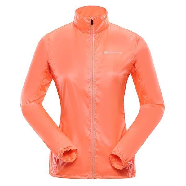 Oranžová dámská bunda - větrovka Alpine Pro - velikost XS