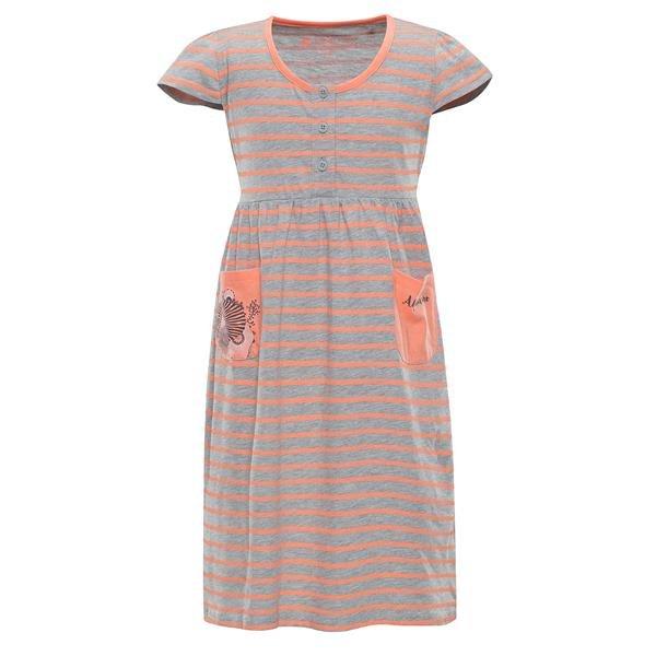 Šedé dívčí šaty Alpine Pro - velikost 92-98