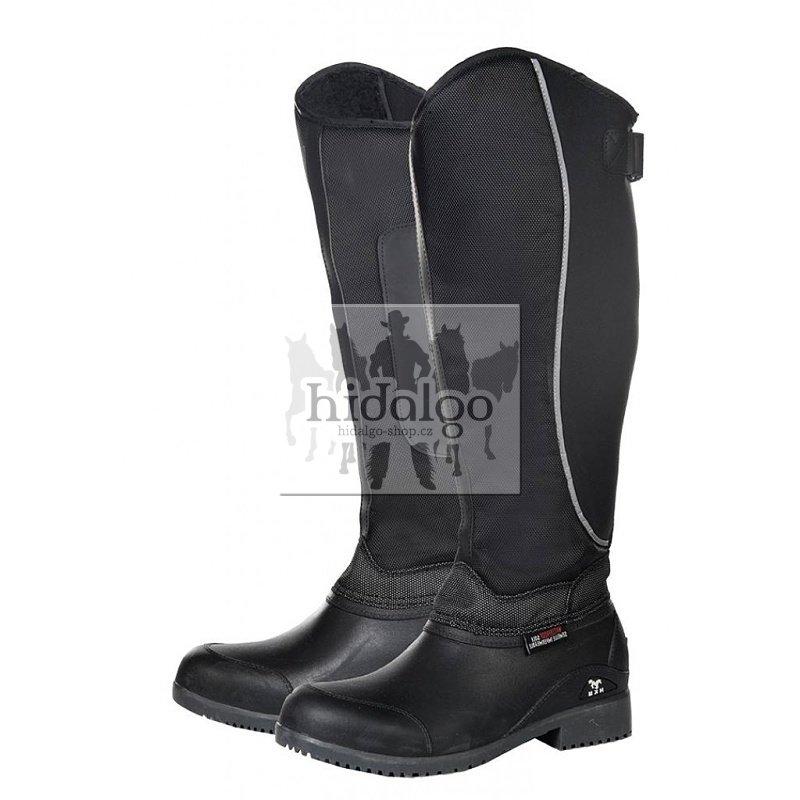 Černé zimní unisex jezdecké boty HKM