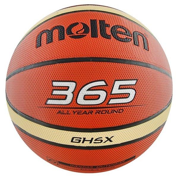 Oranžový basketbalový míč BGH5X, Molten - velikost 5