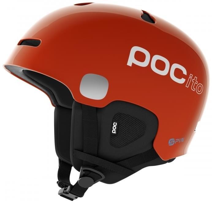 Oranžová dětská lyžařská helma POC