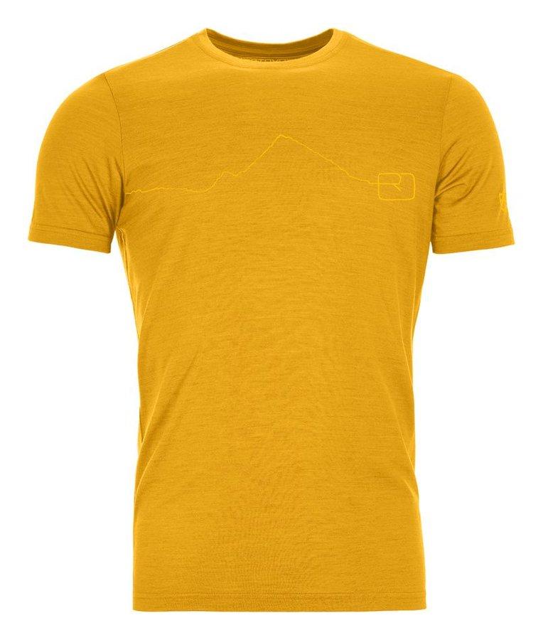 Žluté pánské termo tričko s krátkým rukávem Ortovox