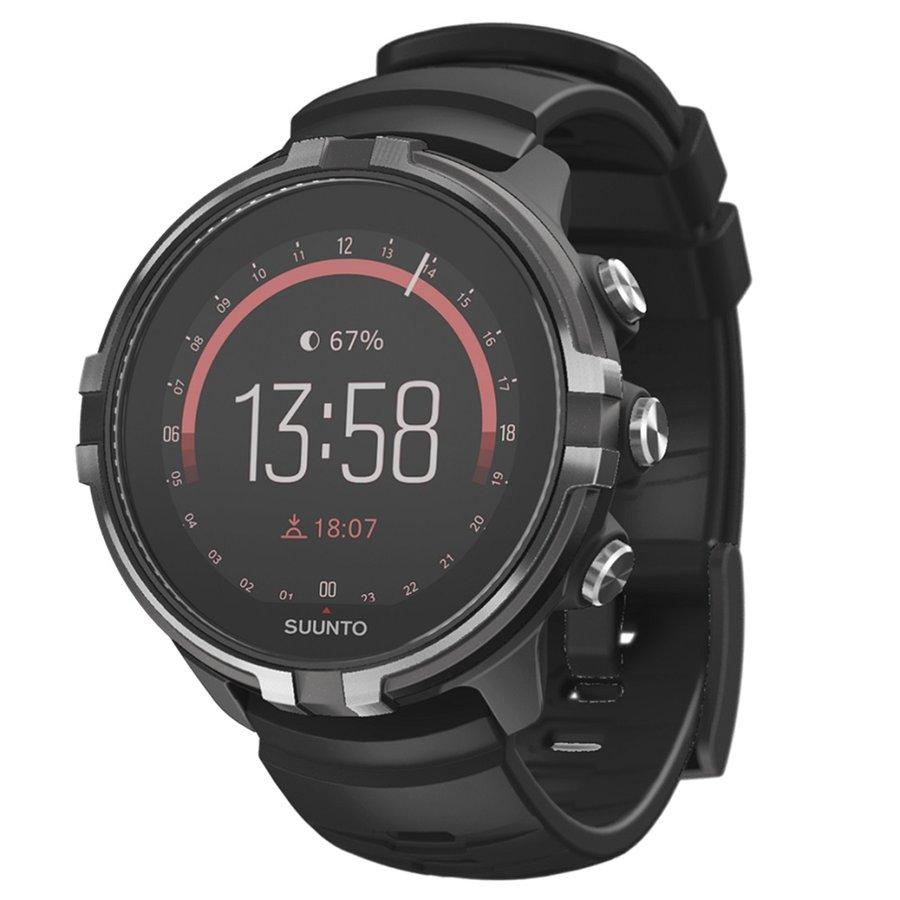 Černé digitální sportovní chytré hodinky Spartan Sport Wrist HR Baro Stealth, Suunto