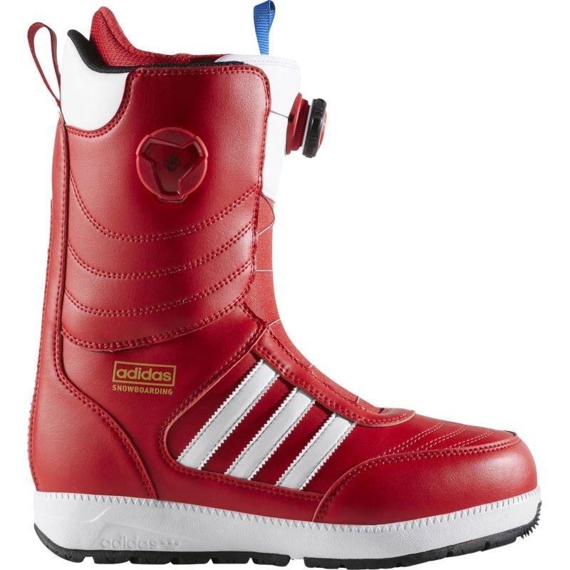 Červené pánské boty na snowboard Adidas