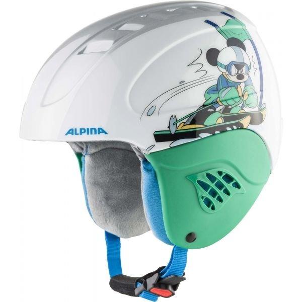Bílá dětská lyžařská helma Alpina Sports - velikost 48-52 cm