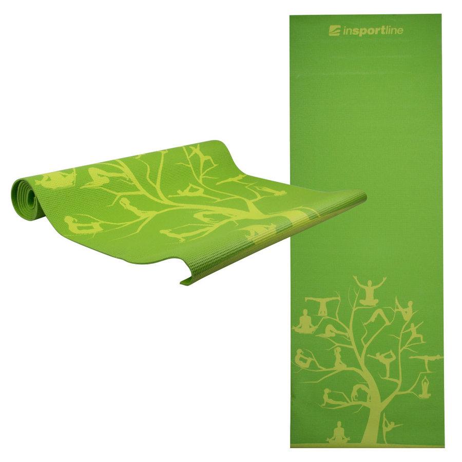 Zelená podložka na jógu inSPORTline - délka 172 cm a tloušťka 3 mm