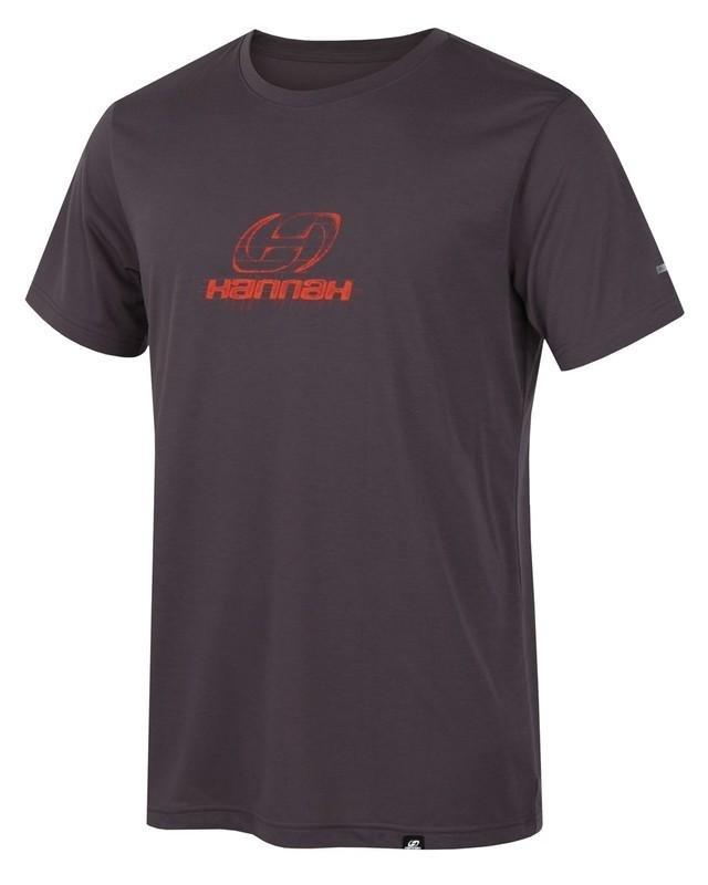 Šedé pánské tričko s krátkým rukávem Hannah - velikost S
