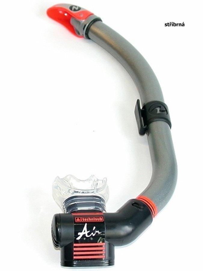 Stříbrný šnorchl Air Dry P.V., TECHNISUB