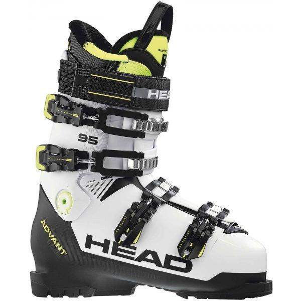Bílo-černé pánské lyžařské boty Head - velikost vnitřní stélky 30 cm