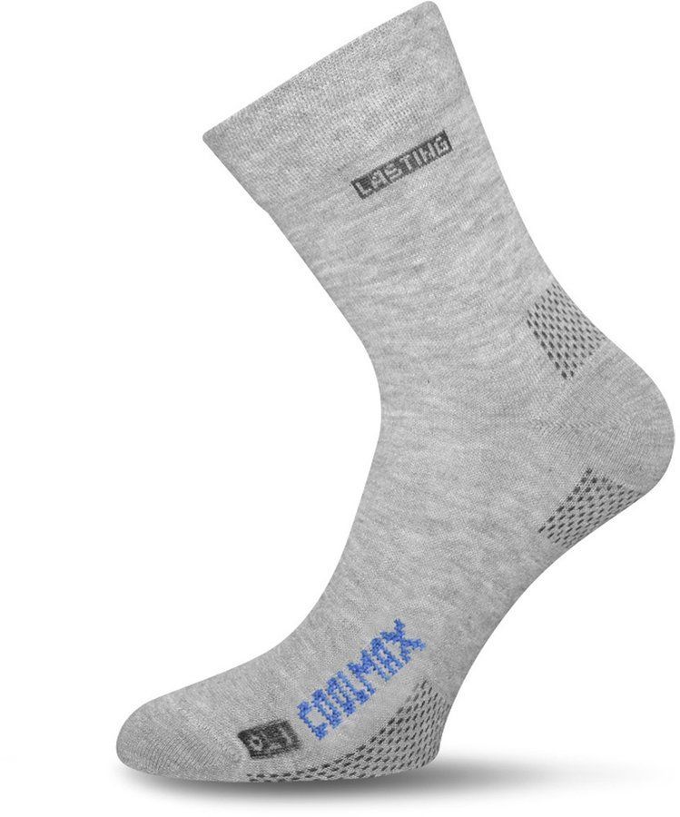 Šedé pánské trekové ponožky COOLMAX®, Lasting - velikost 38-41 EU