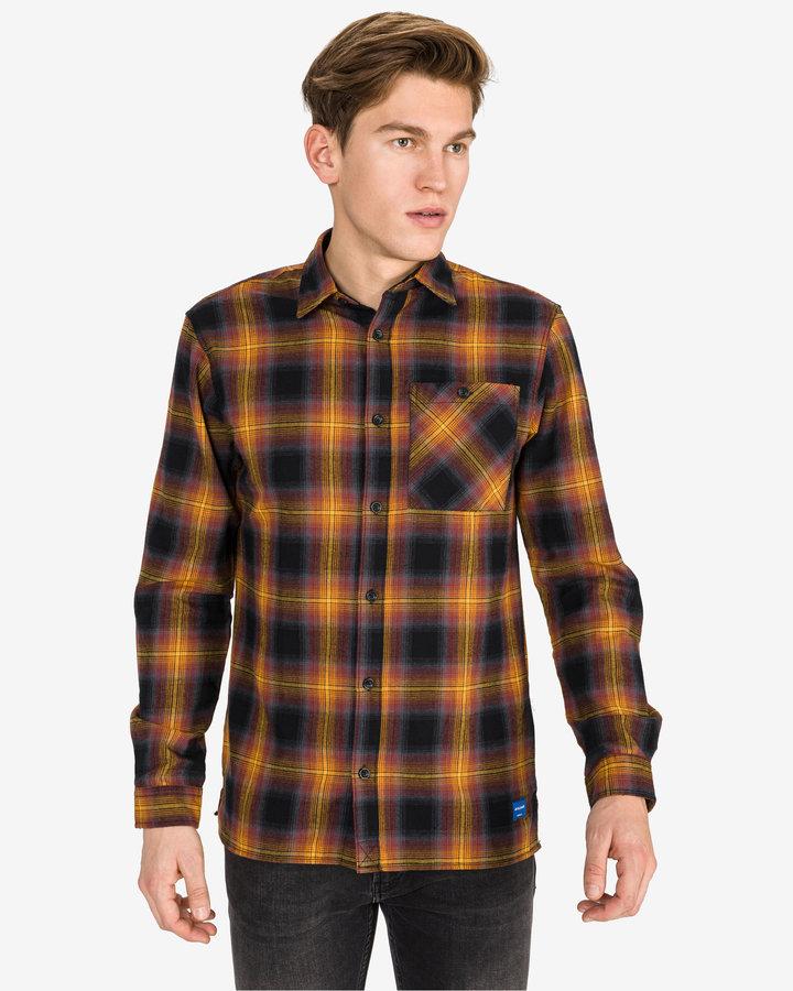 Černo-žlutá pánská košile s dlouhým rukávem Jack & Jones - velikost S