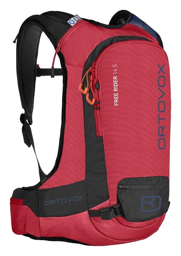 Červený skialpový batoh Ortovox - objem 14 l