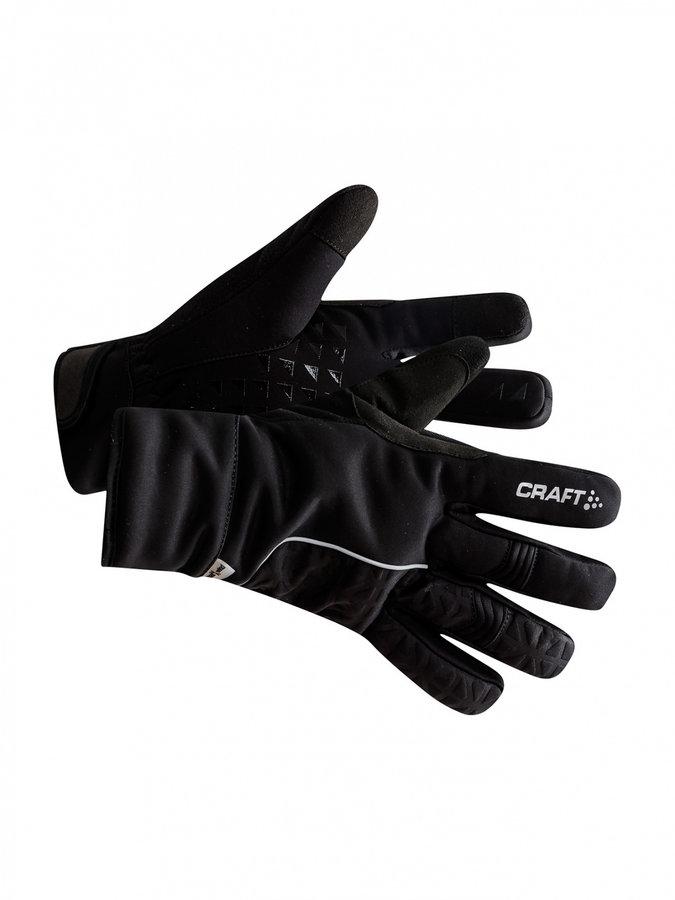 Žluté zimní dámské cyklistické rukavice Craft - velikost L