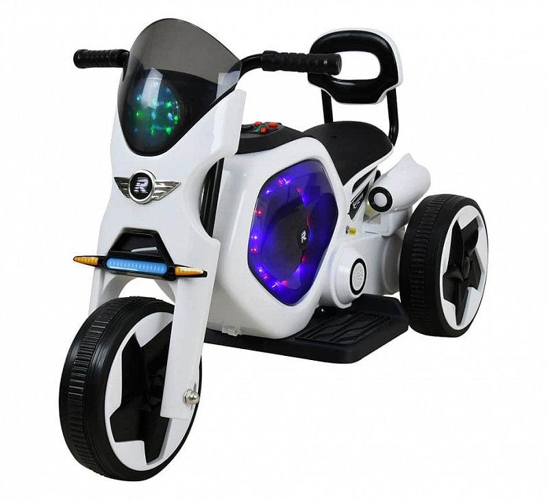 Bílo-černá dětská elektrická tříkolka Racceway