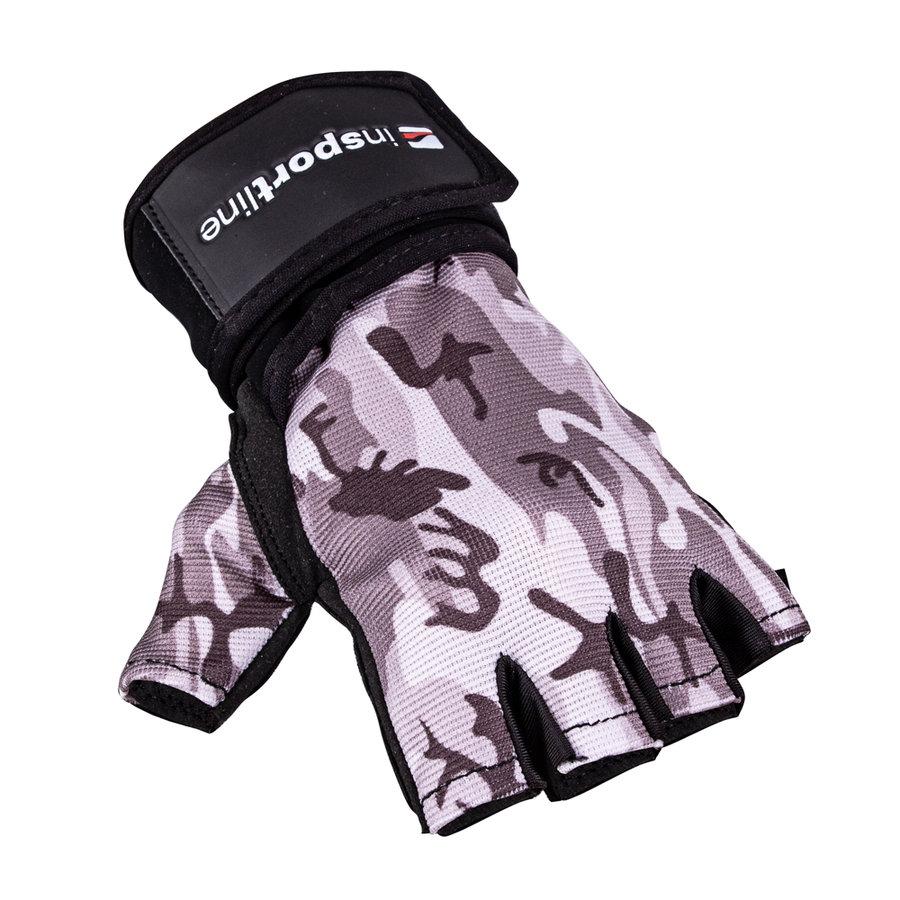Šedé fitness rukavice inSPORTline