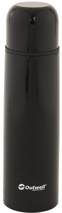 Černá termoska na pití Outwell - objem 0,75 l