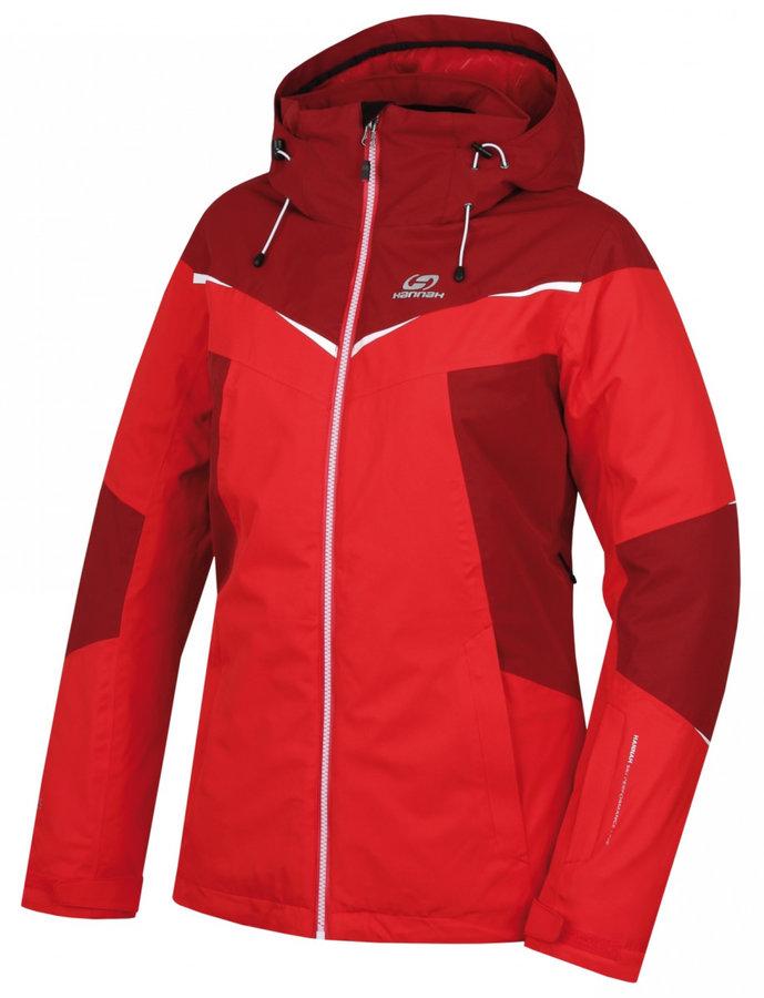 Červená dámská lyžařská bunda Hannah - velikost M