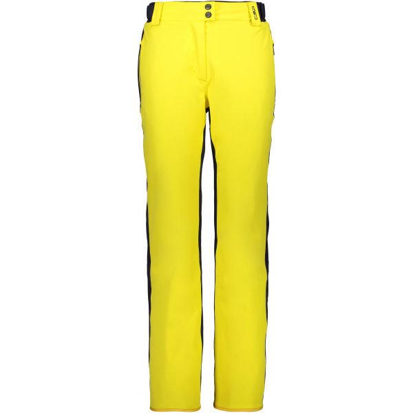 Žluté dámské lyžařské kalhoty CMP