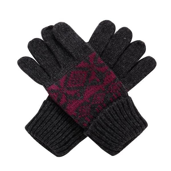 Černo-růžové dámské zimní rukavice Alpine Pro - velikost M