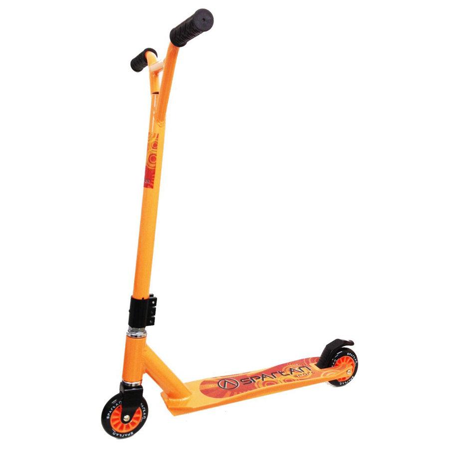 Oranžová freestylová koloběžka Stunt, Spartan - nosnost 100 kg