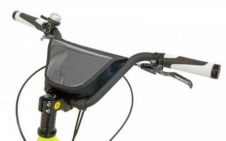 Brašna na kolo - Brašna s klopou Kostka na BMX řidítka