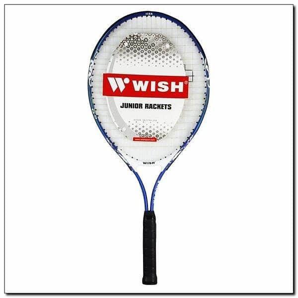 Bílo-modrá tenisová raketa Wish - délka 66 cm