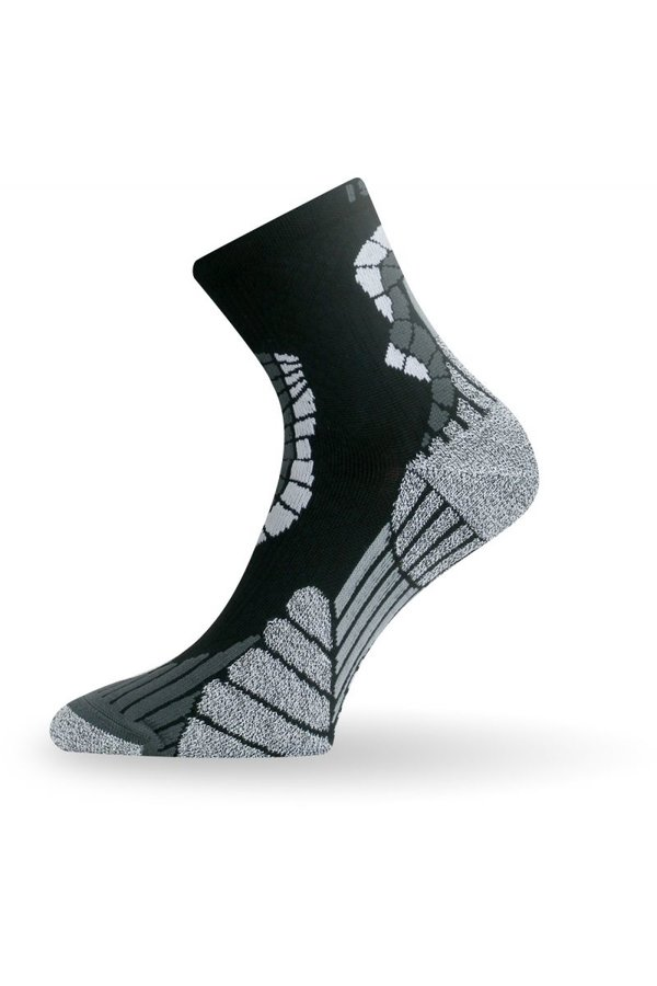 Černo-šedé pánské běžecké ponožky Lasting - velikost 34-37 EU