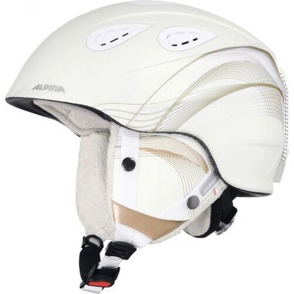 Bílá dámská lyžařská helma Alpina